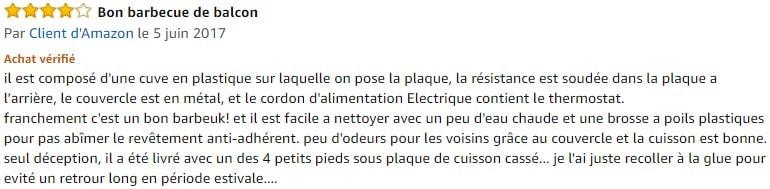 avis barbecue electrique Tristar BQ-2816