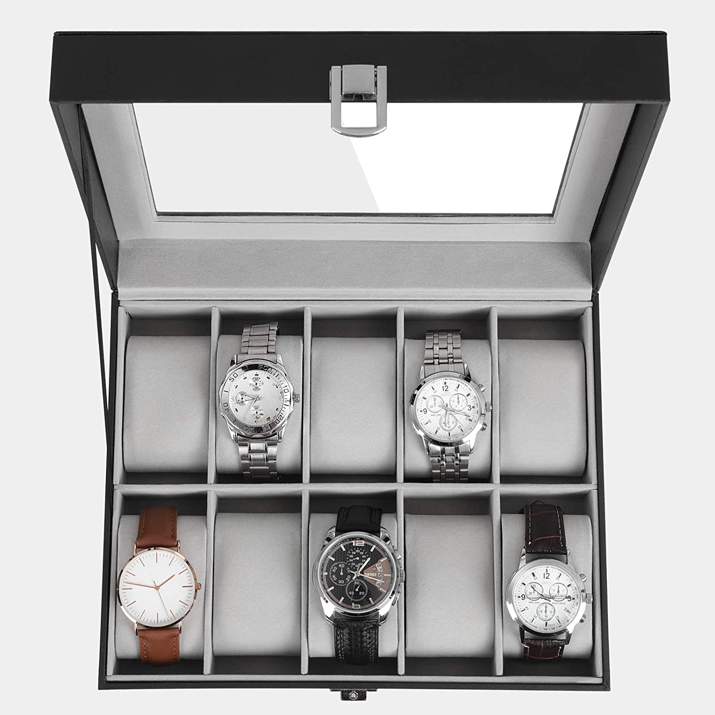 Boîte à montres Songmics JWB010BK